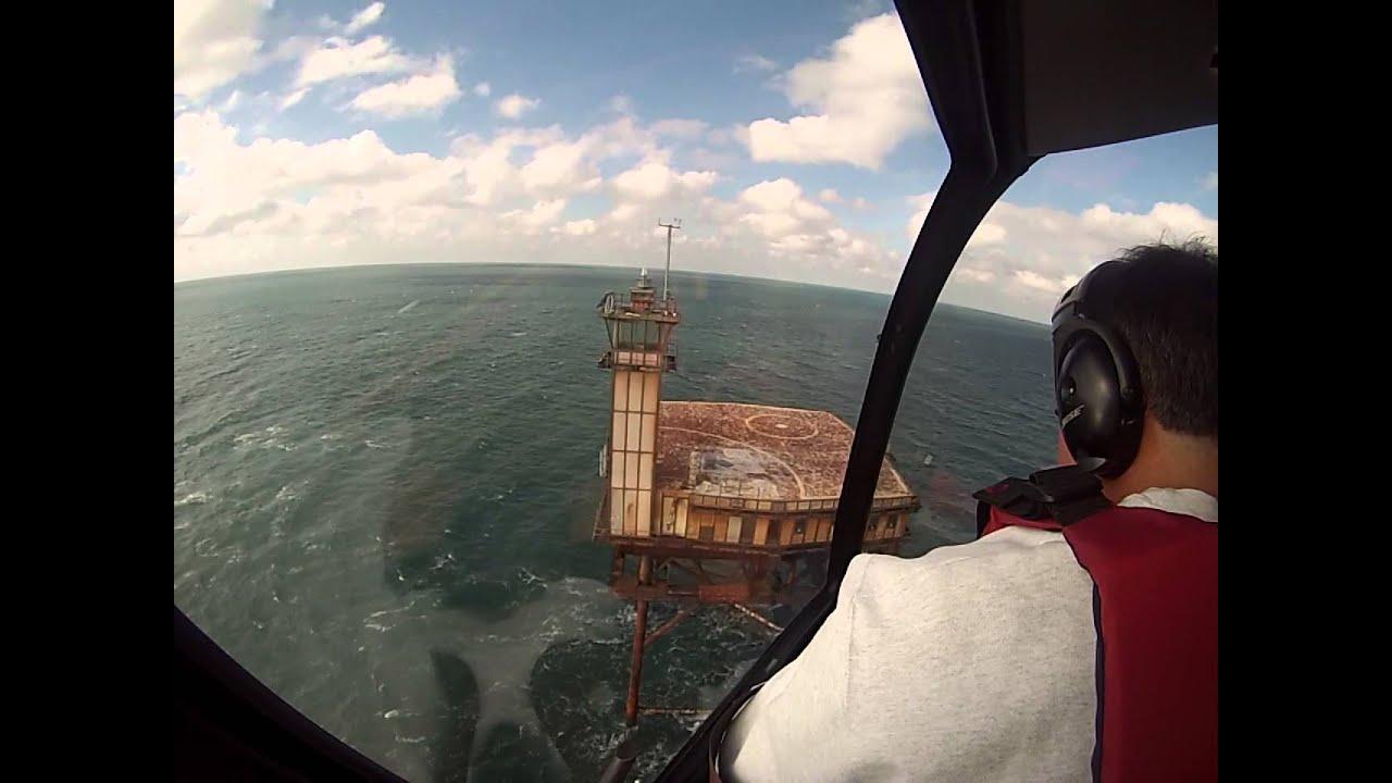 Diamond Shoals Light Station Helicopter Landing Youtube