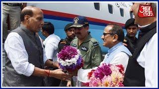 Khabardar: Rajnath Singh Meets Security, Health Department Officials In Srinagar