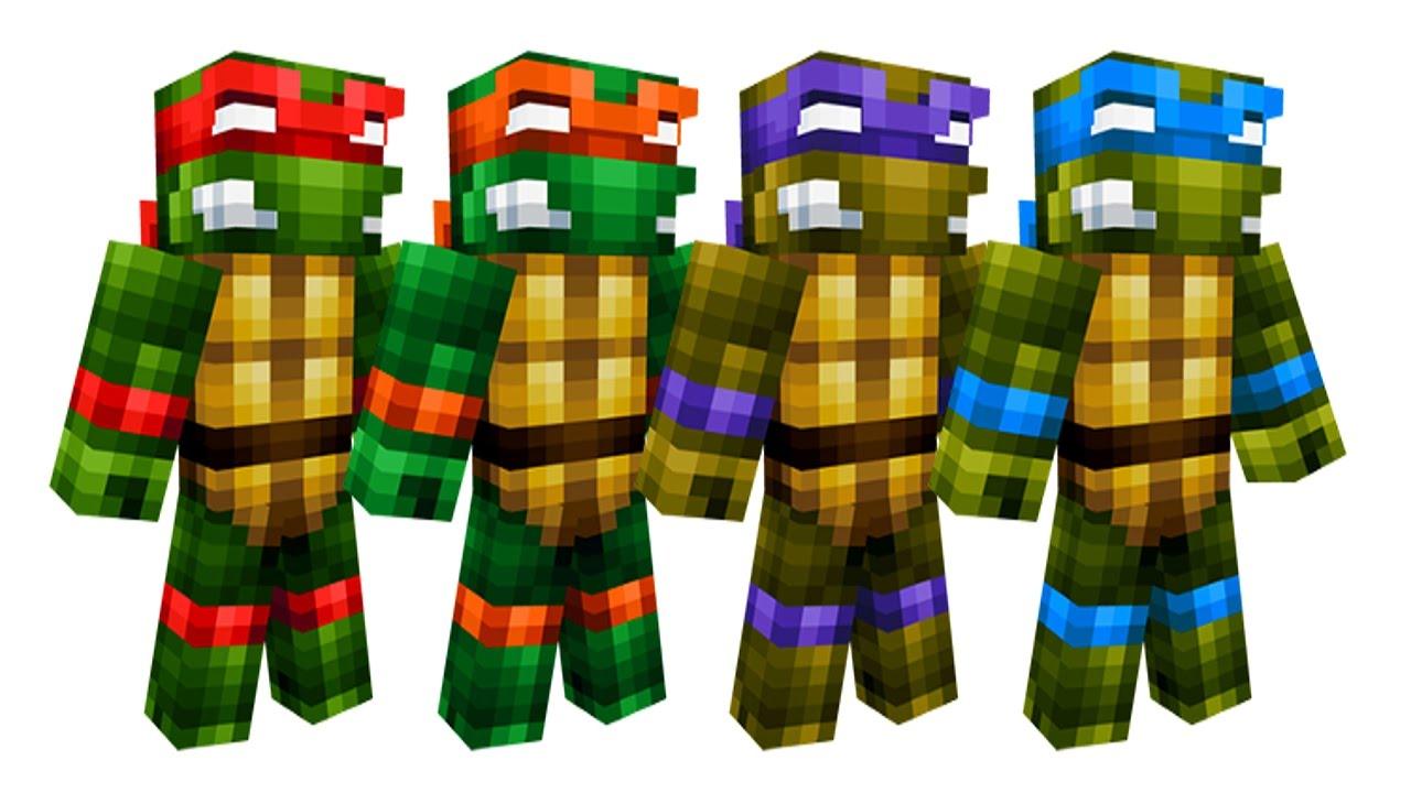 Minecraft TMNT PVP CHALLENGE Teenage Mutant Ninja Turtle Lair - Ninja skins fur minecraft
