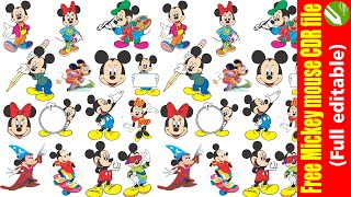 Free Mickey mouse CDR File
