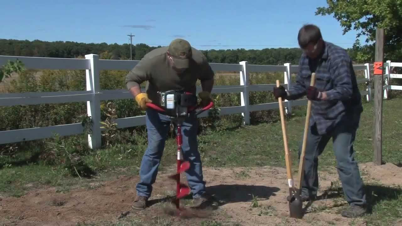 E43 1 Man Earth Auger Powerhead Youtube