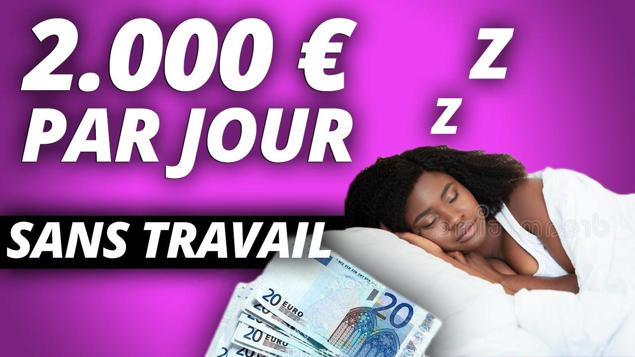 FAIRE 2000€ EN UN JOUR PENDANT QUE VOUS DORMEZ (MONDE ENTIER | GAGNER ARGENT PAYPAL)