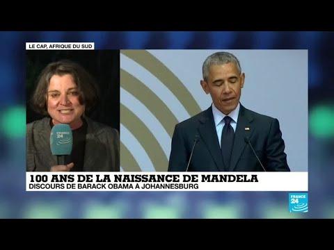 100 ans de la naissance de Mandela : discours de Barack Obama à Johannesburg