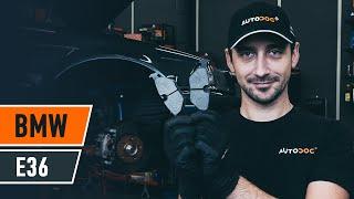 Как да сменим предни спирачни накладки наBMW E36 [AUTODOC УРОК]