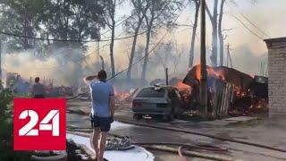 В Пермском крае сгорели десятки гаражей и бань - Россия 24