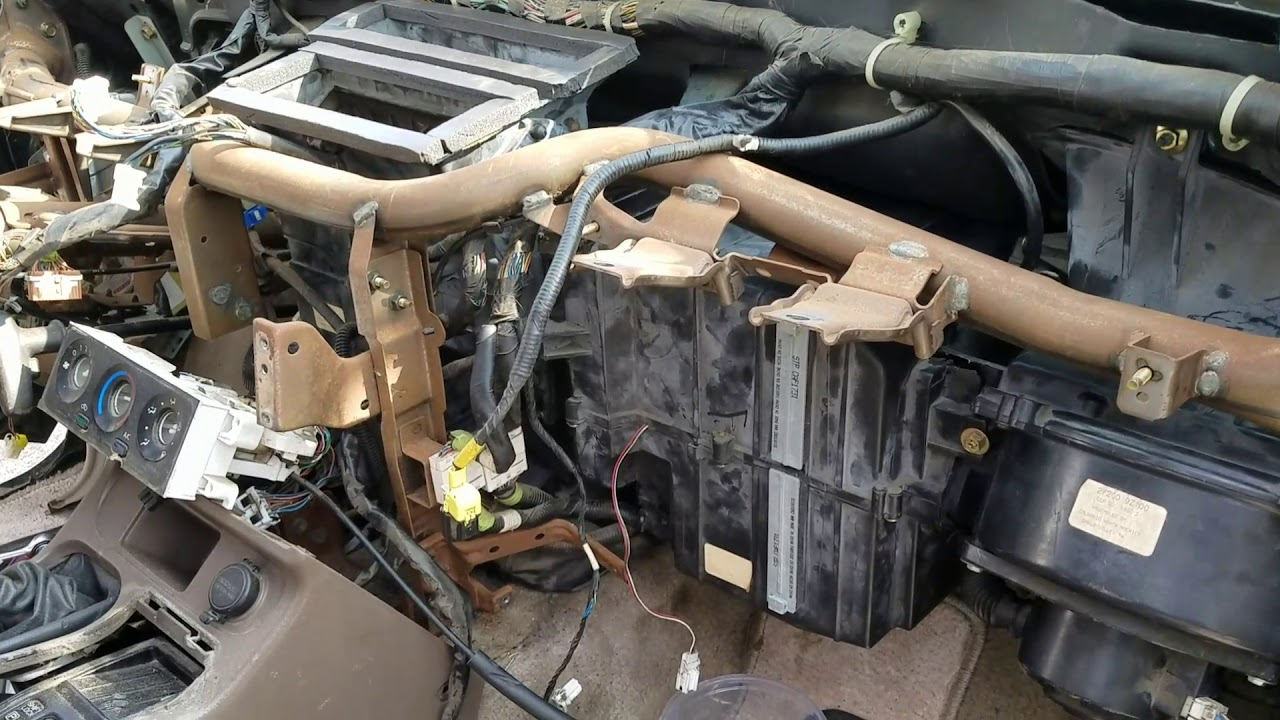 2000 nissan frontier heater core replacement - YouTube