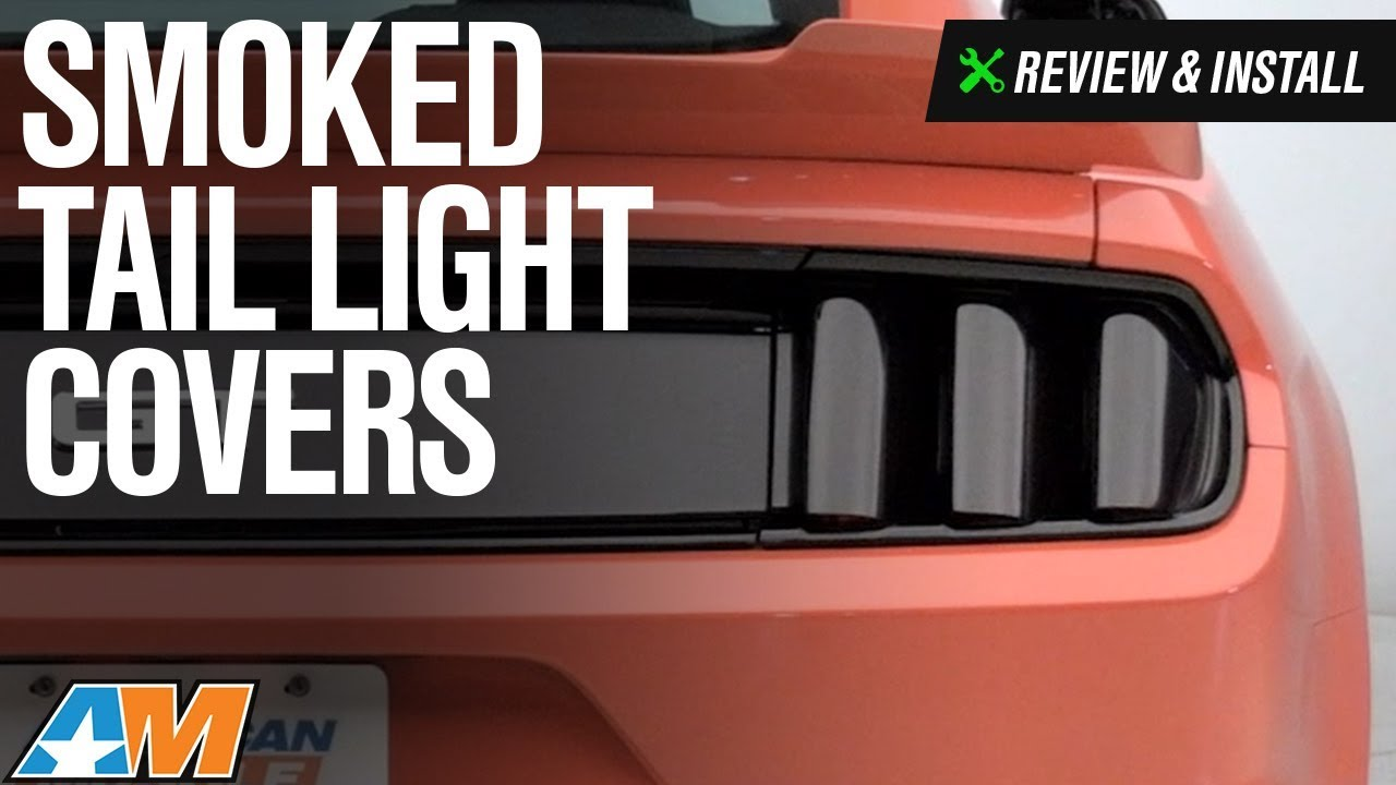 2015 2017 Mustang Smoked Tail Light Covers Review U0026 Install