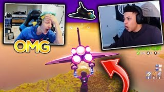 MYTH & NINJA REACT TO NEW *ULTRA RARE* SPACESHIP GLIDER AND VANGUARD SKIN! (Fortnite Moments)