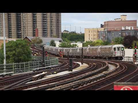 MTA NYC Subway 4 train (R62A) leaving Bedford Park Blvd/Lehman College
