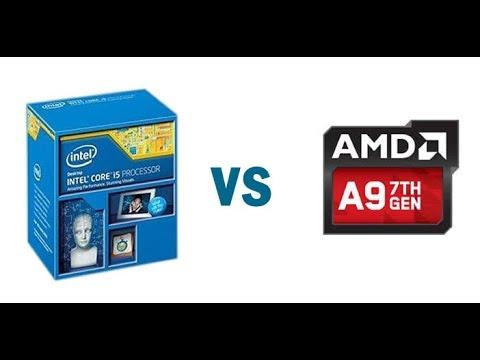 Amd A9 9400 Vs Intel I5 4950 Procesador Cpu Youtube