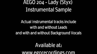 AEGO 204 - Lady - Instrumental Sample - Originally by Styx