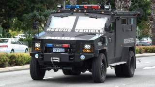 Lenco Bearcat - Police Rescue Vehicle - Perth WA, CHOGM 2011