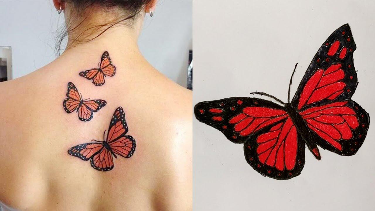 acf7f7e57d2d5 Top Butterfly Tattoo Designs For Women and Girls   Best Tattoo idea ...