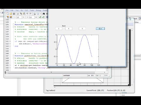 MATLAB tutorial: GUI (graphical user interface) for beginners