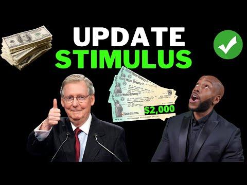 MCCONNELL + PELOSI!! $2,000 Second Stimulus Check Update: [Senate Must Accept]