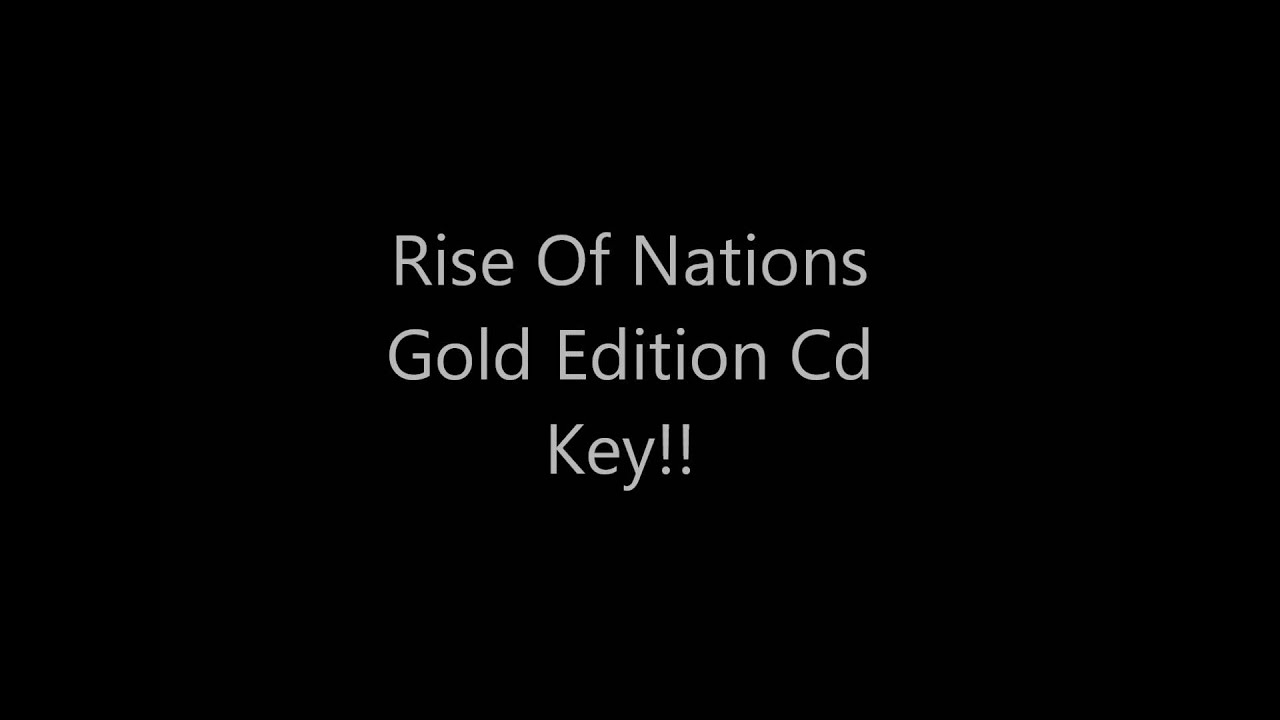 rise of nations gold edition crack