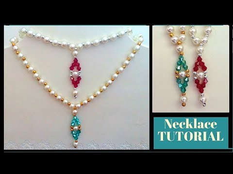 10 MINS Diy Necklace. Beaded necklace tutorial. How to make simple necklace in no time