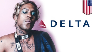 Homophobia on Delta flight? Man 'uncomfortable' next to Mykki Blanco, calls the cops - TomoNews