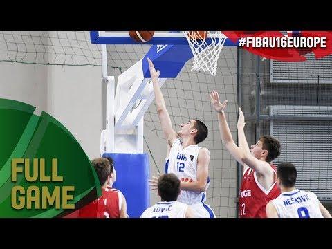 Bosnia and Herzegovina v Norway - Full Game - FIBA U16 European Championship 2017 - DIV B