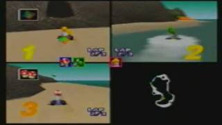 MK64 3-Player VS 150cc MJ(Toad) + VAJ(Yoshi) + Maurice(Peach) part 7