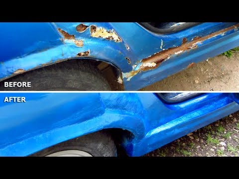 Car Body Repair DIY (rust, holes, filler, sanding, primer, spray paint, lacquer)