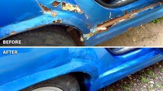 Car Body Repair DIY (rust, holes, filler, sanding, primer, spray paint, lacquer)
