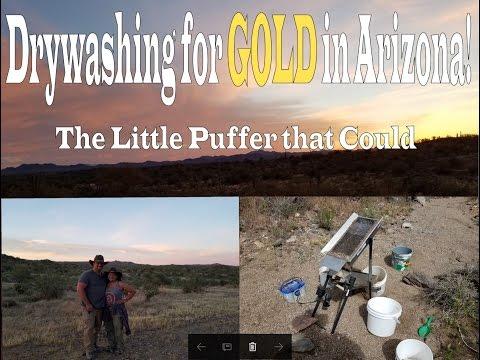 DRYWASHING FOR GOLD IN ARIZONA !!! Thompson Drywasher