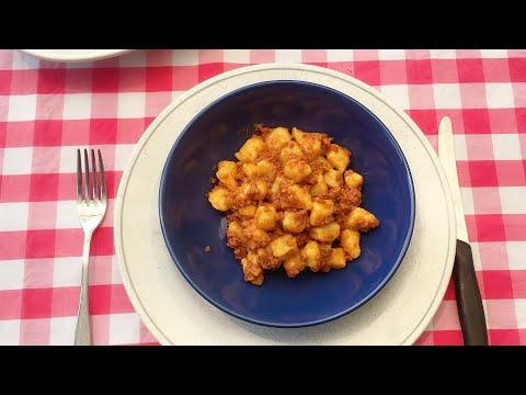 gnocchi-di-patate-al-ragù-🇮🇹-معجنات-بالبطاطس