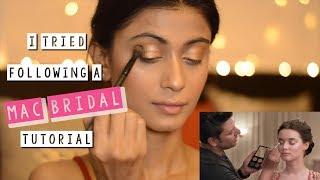 I tried following a MAC Bridal makeup tutorial!   Sush Dazzles  