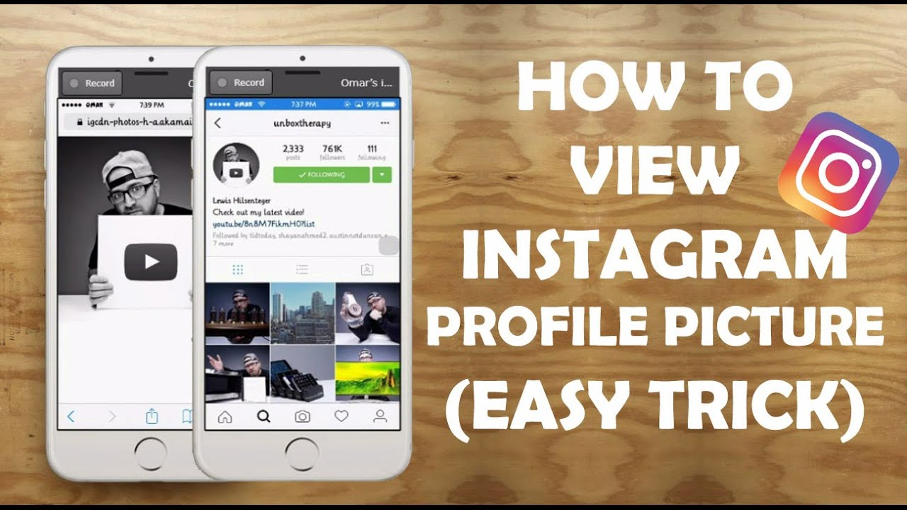 How To View Instagram Profile Picture In Full Size - YouTube