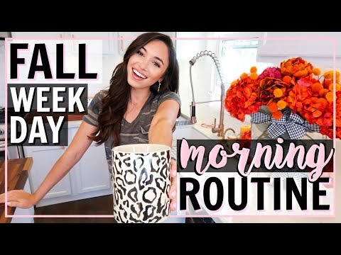 FALL MORNING ROUTINE 2018! BUSY WEEKDAY ROUTINE | Alexandra Beuter