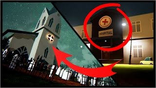 SECRET HOSPITAL, CHURCH, SUPERMARKET!! | Hello Neighbor Alpha 3