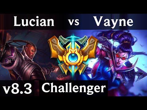 LUCIAN vs VAYNE (ADC) // Korea Challenger // Patch 8.3