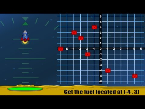 Rocket Down Coordinate Grid Game Overview