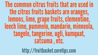 Citrus Fruit Basket