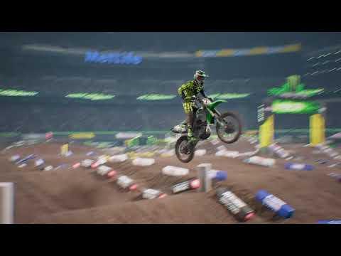 Monster Energy Supercross - The Official Videogame East Ruthford Full Race Replay (Me)