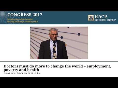 RACP Congress 2017 - Closing plenary, Emeritus Professor Nortin M Hadler