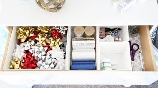 Organized Gift Wrapping Station for the Holidays! | How to Organize Wrapping Paper & Gift Bags