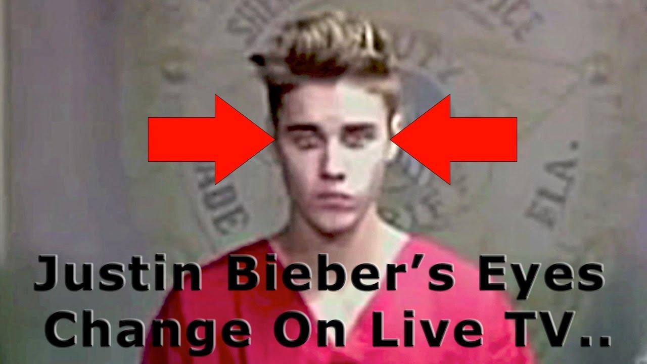 Justin Bieber The Deceiver His Eyes Change On Live Tv