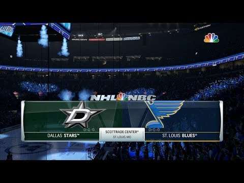 NHL 18 Franchise Mode: Stanley Cup Playoffs Round 1 - Dallas Stars @ St Louis Game 2
