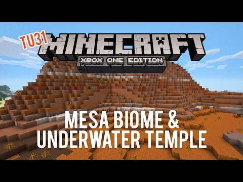 Minecraft Seed Showcase: MESA Biome & Underwater Temple (TU31 Xbox One PS4)