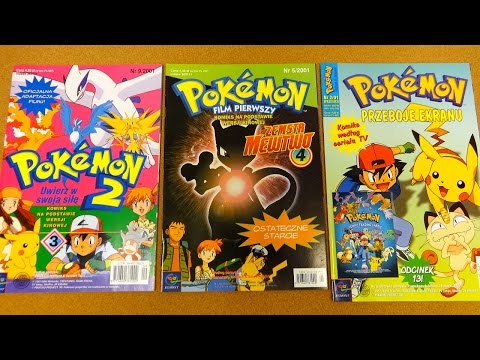 Pokemon 1 & 2 Movie Comic Book Adaptation + TV Series Comics Collection