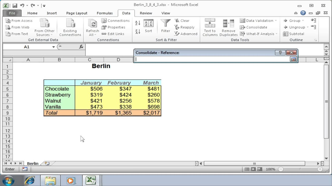 Excel Link Consolidating Data From Multiple Workbooks With Active Links