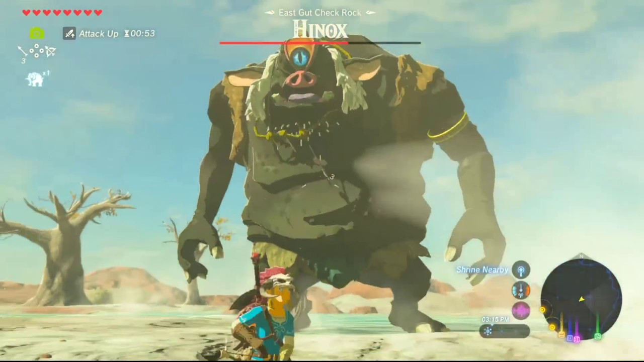 how to catch giant horse botw