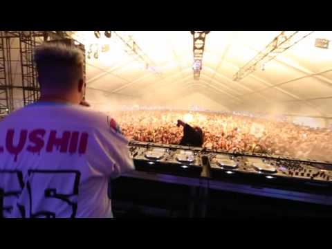 Skrillex surprises the slush out of Slushii at Hard Summer