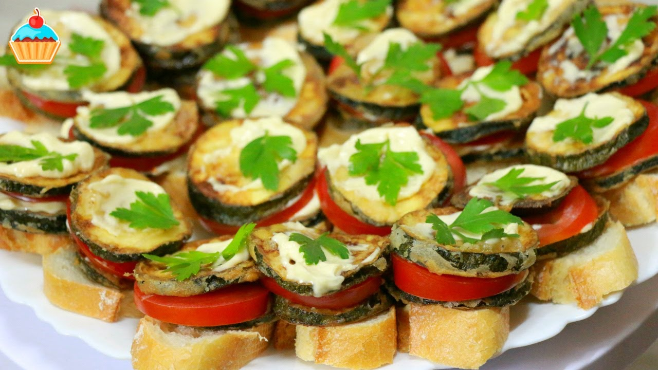 Бутерброды с кабачками и сыром