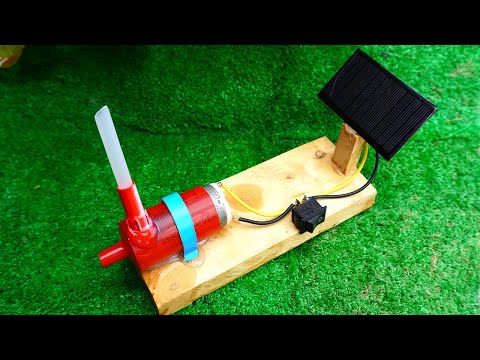 Solar Energy , Homemade Free Energy Water Pump With DC Motor