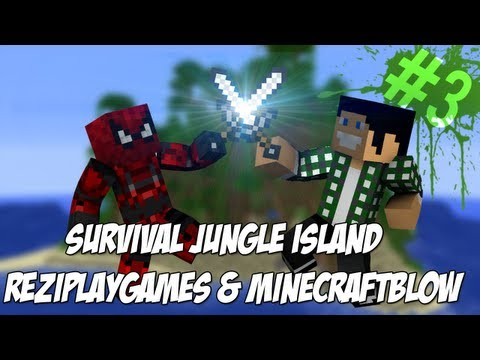 Survival Jungle Island: 3 - Łowimy Creepery \\ TIMELAPSE budowy domku
