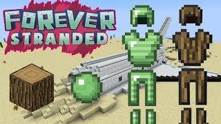ODUN ZIRH YAPIMI   Minecraft Forever Stranded #4