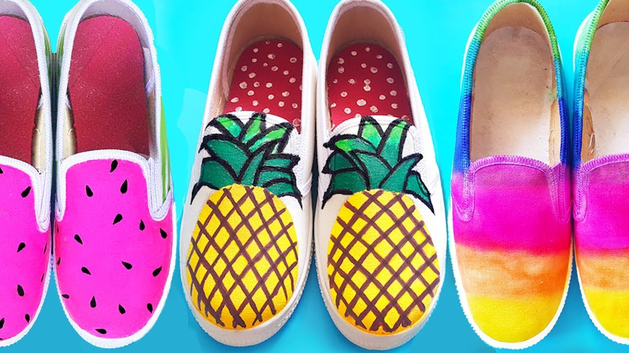 10 DIY SHOES IDEAS for Summer | Easy